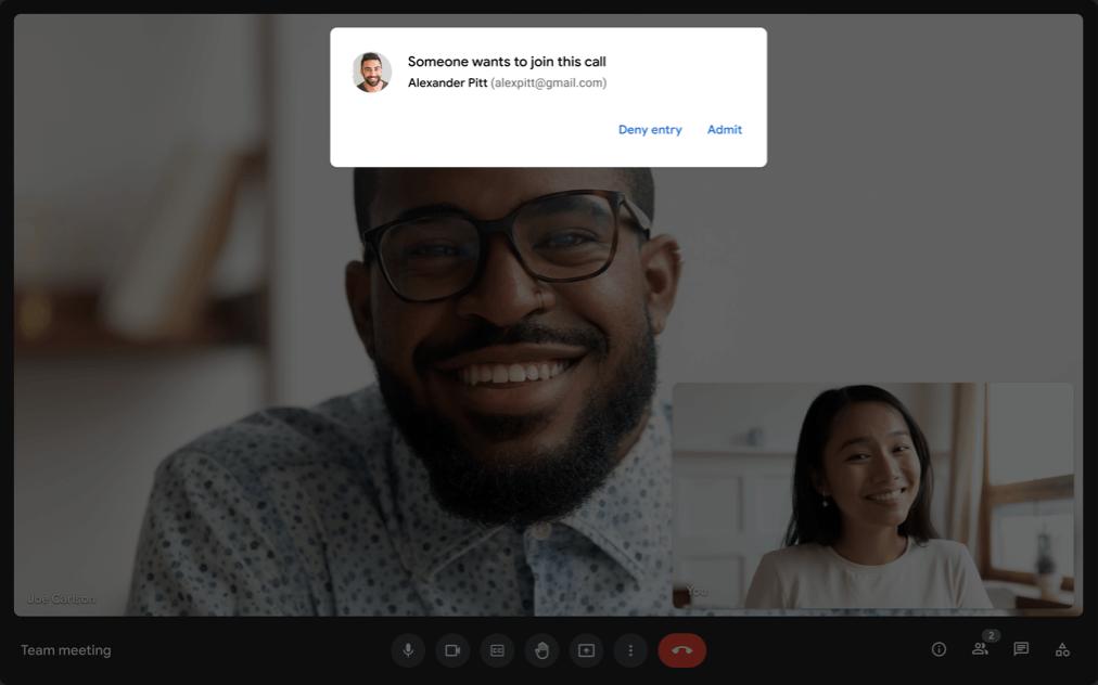 Google Meet - Manage Participant