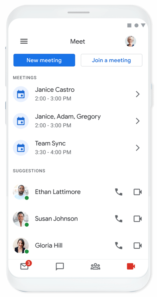 Google Meet - Join a meeting anywhere on any devices