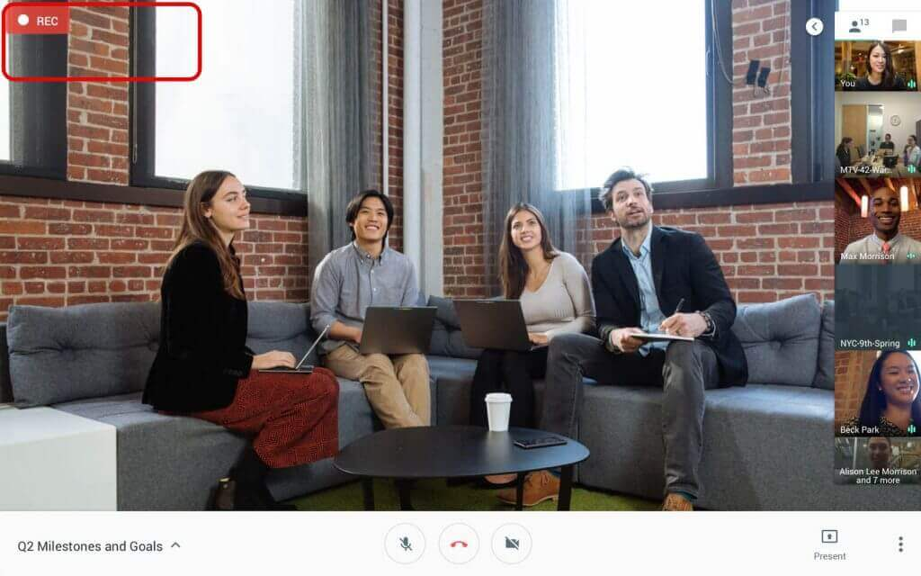 Google Meet - Record a meeting