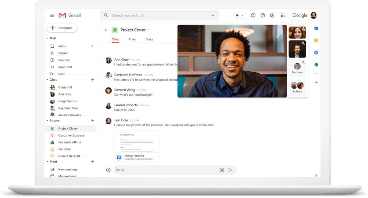 Google Meet - Intergrate with other Google Apps