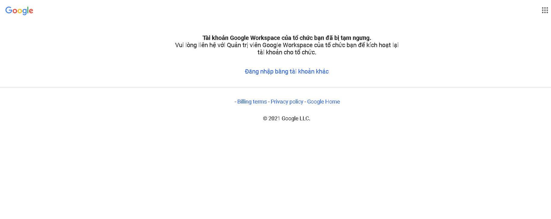 Cách xử lý khi Tài khoản G Suite (Google Workspace) bị khóa