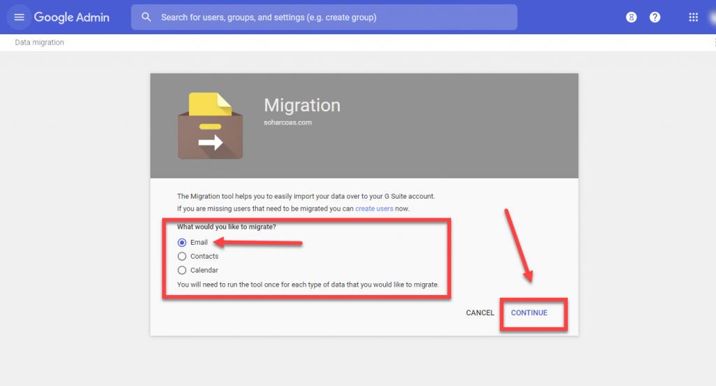 Hướng dẫn di chuyển dữ liệu email sang Google Workspace
